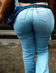 Tight bum girls in jeans