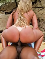 Alessandra came down the rocks. That is one incredibly good ass! I love the blonde brazilians
