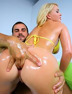 That babe bounced her perfect fat ass all over his schlong. It was simply amazing to see admirable butt Krissy in..