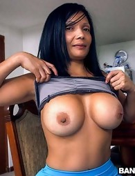 Latin chick MILF cleans and then fucked