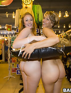 Kelsey Michaels and Alina Aldamen's Fortunate fat ass Shopper