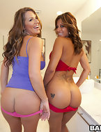 Starring in today's Feature is Gia Milani & Spicy J. Those 2 ladies have got it all from huge tits to crazy monster..