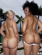 We got 80 some inches of ass today. This weeks feature stars Daiquiri Divine & Paris. These two ladies are super fine..
