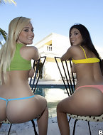 2 sexy big booty babes by the name of Amy and Brittany Harper. Their going to give some of that good pussy and juicy..