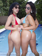 Both of these bombshells have big ass.  Abella Anderson's dick riding ability we promise you all will be begging for..