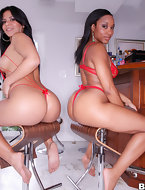 Imani Pinkish and Rose. I self-confidence you'll love watching these 2 big butt females get there pussies stuffed full..